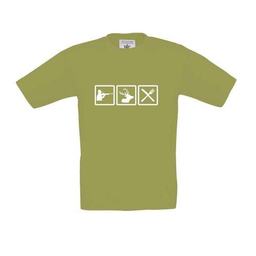 Jäger - Fun, Kinder T-Shirt, Größe 152 - 164, (Jägerin Mädchen Kostüme)