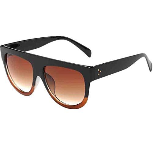 EUCoo Mode Liebhaber Sonnenbrillen 1 StüCk Doppel Meter Nagel Unisex Brille + Box Leopard...