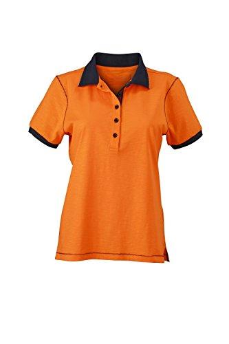 Maglietta polo in modernissima qualità con filato a fiamme Ladies' Urban Polo Orange/Navy