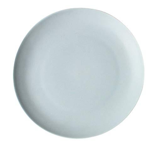 Nordic Keramik Geschirr Matt Western Food Flacher Teller Steak Salat Pizzateller Restaurant Blau 22,2X2,5Cm