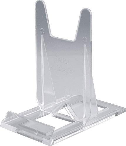 Home Xpert Telleraufsteller, Tellerständer, Tellerhalter, transparent, 6 cm breit, 10 cm tief, 10 hoch, für Teller von Ø 11 bis 32 cm - Teller 11