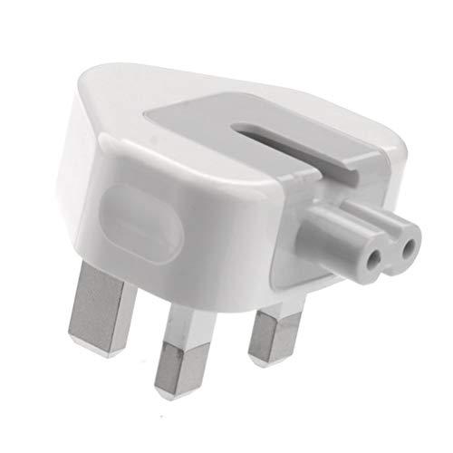 BeckenBower® Premium Qualität - UK Stecker Entenkopf-Netzadapter mit Sicherung, CE gekennzeichnet, für Apple MacBook, iBook, iPhone, iPod Ersatz UK 3-poliger AC-Netzadapter - perfekt für Reisen