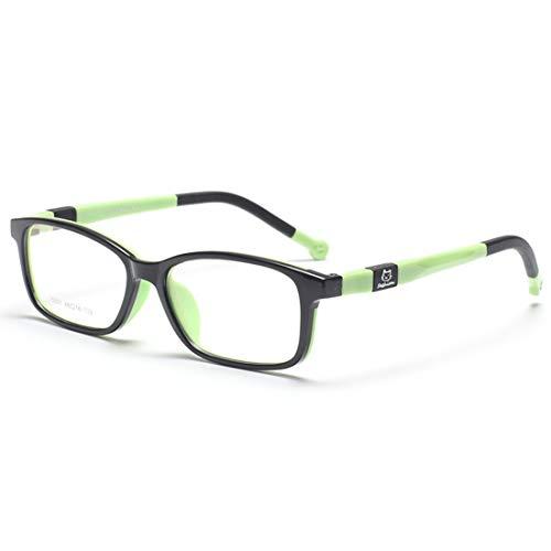 Shiduoli Kinder-Brillen aus Silikon mit Brillen für Frauen, Männer (Color : Green)