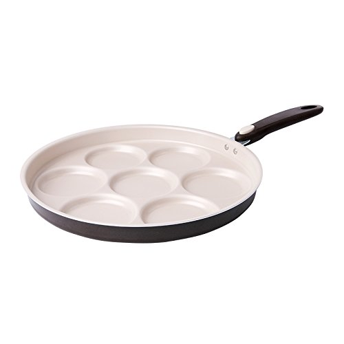 Excelsa 47665 Happy Cooking Padella 7 Scomparti per Pancake/Crepes, 28 cm, Alluminio