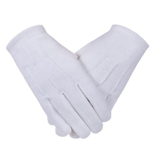 Freimaurer Freimaurer Handschuhe in Baumwolle, uni, Gr.-XL, Weiß