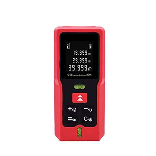 Laser Entfernungsmesser 40m, Professional Laser Distance Meter, Wasserdicht Staub/Spritzwasserschutz, Mit LCD Hintergrundbeleuchtung,Hohe PräZision,40m