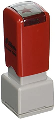 Shiny SU-13750 Star Square Stock Stamp, Red (HS007)