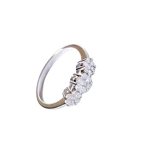 Anello Fidanzamento Trilogy Oro 18kt 750 Diamanti Naturali 0,36CT F VVS 2,50GR