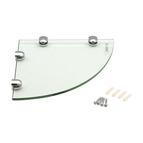 Harbour housewares mensola angolare in vetro, per bagno/camera da letto, da 200 x 200 mm