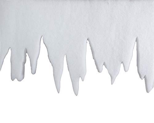 Riffelmacher 68560 Dekoration Eiszapfengirlande Eiszapfen Dekogirlande-Weihnachten und Basteln 1 Meter, Weiß