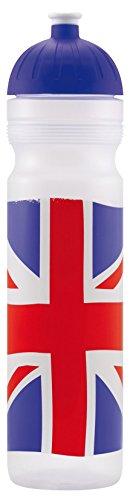 Original ISYbe Marken-Trink-Flasche für Jugend und Erwachsene, 1000 ml, BPA-frei, Britisch-Motiv, geeignet für Schule, Reisen, Sport & Outdoor, Auslaufsicher auch mit Kohlensäure, Spülmaschine-fest