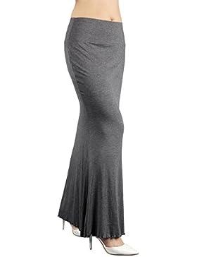 iLoveSIA Bodycon Vestido largo de la Falda del estiramiento para Mujer