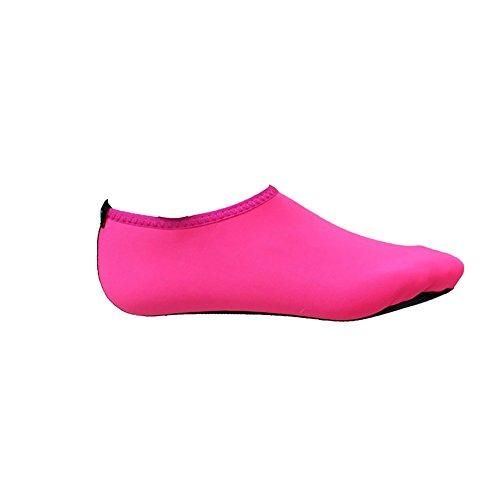 MORESAVE Unisex piedi nudi pelle scarpe d'acqua Yoga calzini sport surf formatori sandali Calzature Rose rosso
