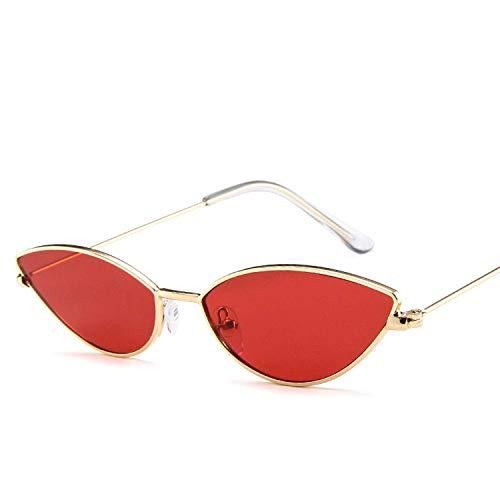 YSA Klassische Sonnenbrille Sport Sonnenbrille niedlich sexy Sonnenbrille Frauen Retro kleine schwarz rot rosa Sonnenbrille weibliche Vintage für Frauen