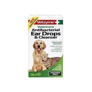 Vetzyme Pet Anti-bacterial Ear Drops & Cleanser 18ml 11