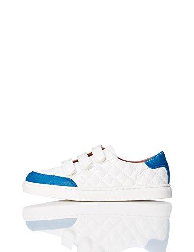RED WAGON Jungen Sneaker mit Klettverschluss, Weiß (White), 29 EU