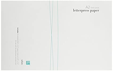 We R Memory Keepers Letterpress Paper, A2-Size, Fold-Style, 20-Pack, White