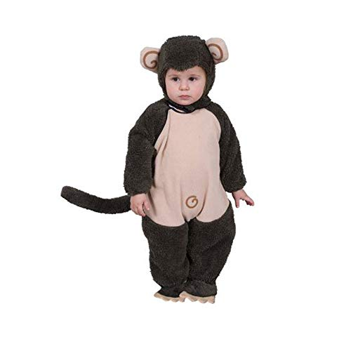 Kind Plüsch Kostüm Affe - Dress Up America Niedliches Plüsch Lil 'Monkey Kostüm 0-6 Monate