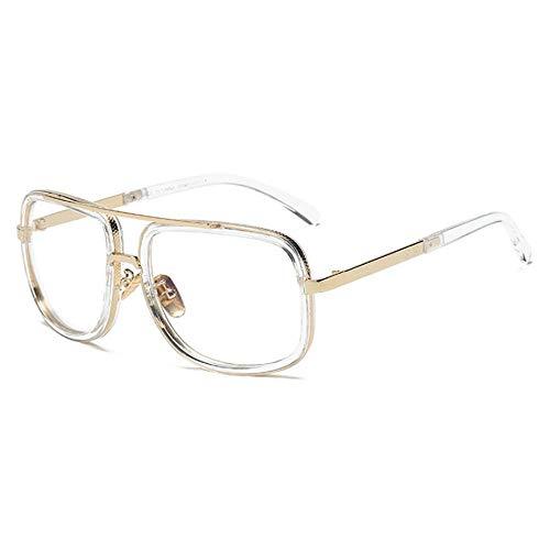 GY-HHHH Vintage Tone Sonnenbrillen - Damen/Herren Casual Sonnenbrillen - Square Oversized Sunglasses-white