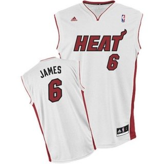 adidas Miami Heat Men's Lebron James NBA Maillot de basketball XXS Blanc - blanc