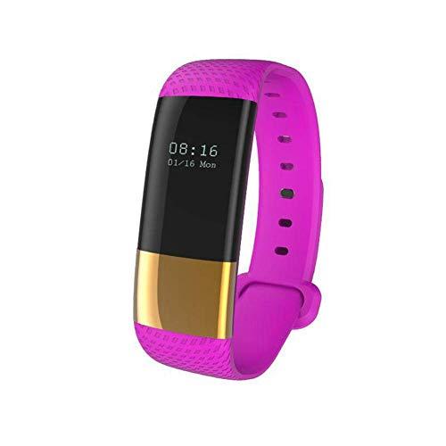 Miji M4 Fitness Tracker Activity Tracker mit Pulsmesser Wasserdichte IP67 Blutdruck Schrittzähler Fitness Uhr für Kinder Männer Frauen Schrittzähler (Gold Lila)