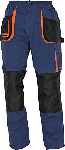 Stenso Emerton - Pantaloni da Lavoro multitasca Extra Resistenti - Uomo - Blu Scuro/Nero/Arancione - 52
