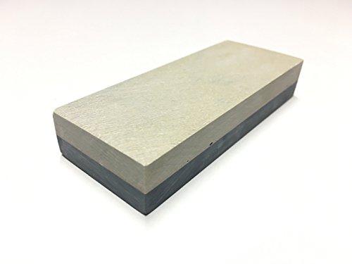 Schleifstein Abziehstein Belgischer Brocken Gelb Grösse 100x40 mm Körnung 8000 - 10000 Damast-Messer-Schärfer (Edelsteine Schneiden)
