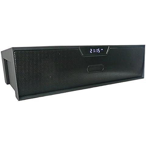 Emartbuy ® Nero SoundBox Portatile Bluetooth Senza Fili Altoparlante Con Mic Adatta Per Verizon Ellipsis 7 / Verizon Ellipsis 8 / Verizon Ellipsis 10 Tablet PC
