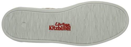 Living Kitzbühel Damen Slip-On Streifen Hausschuhe Beige (Natur)