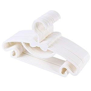 Sfesnid Kleiderbügel Kinderkleiderbügel für Kinder Baby 50Stk 29.5cm + 4stk Kleiderbügel Organizer