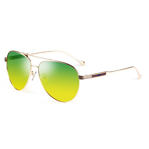 Sonnenbrille Green Gradient Polarized Light Anti-UV-Sonnenbrille Drive Anti Blendung ( farbe : Grün )