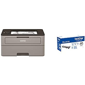 Brother HLL2350DW - Impresora láser monocromo con Wifi y dúplex + Brother TN-2410 Laser cartridge 1200 páginas Negro tóner y cartucho láser