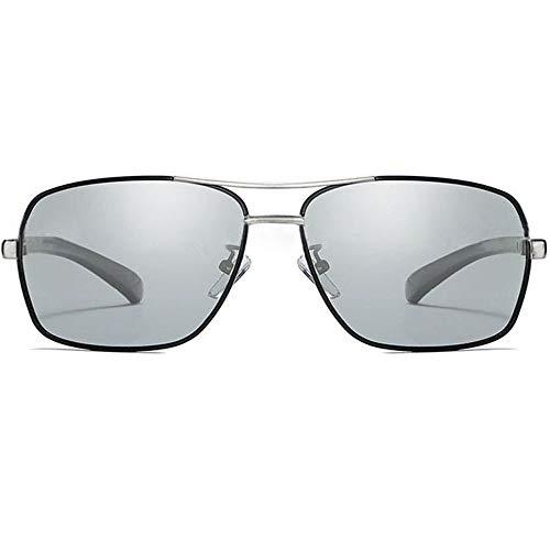 ZXYSSKT Polarisierte Farbgläser Neue Business Männer-Sports-Sonnenbrillen,Silver