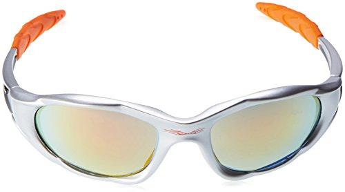 X-Loop Sonnenbrillen - Sport - Radfahren - Skifahren - Laufen - Driving - Motorradfahrer / Mod. 1002 Dunkelgrau / One Size Adult / 100% UV400 Schutz MNTF3