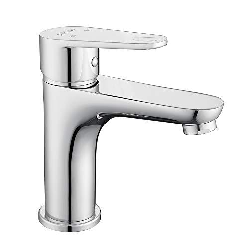 Aihom Chrom Wasserhahn Bad Armatur Messing Waschtischarmatur Mischbatterie Einhebelmischer Waschtischmischer Spültischarmatur Waschtisch für Badezimmer Einhandmischer Spüle
