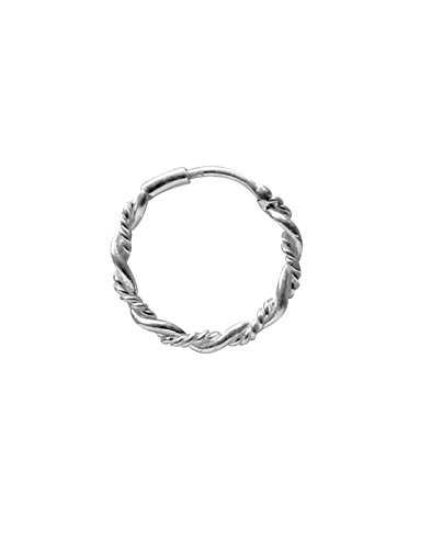 Abhooshan Designer Nose Ring in 92.5 Silver for Women and Girls Piercing Body Jewellery