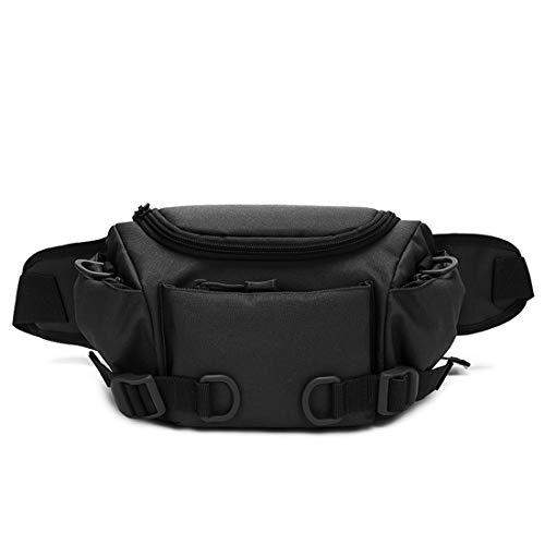 BondFree Tactical Nylon Taktische Hüfttasche Molle Bauchtasche Militär Gürteltasche Reißverschluss für Freizeit Outdoor Sport Trekking Wandern Running (Schwarz-1)