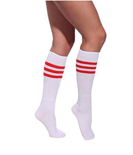 Qissy®Damen Maedchen Fussball Stutzen SportSocken Sport Socken Strumpf Fussballstutzen (One size, (Männer Kostüme Für Cheerleader)
