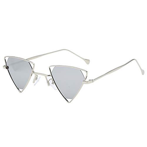 MCYs Herren und Frauensonnenbrille grau Mode Mann Frauen unregelmäßige Form Sonnenbrille Brille Vintage Retro Stil