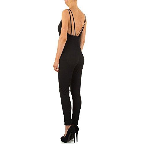 Jumpsuit Overall Für Damen bei Ital-Design Schwarz
