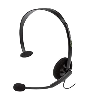 Official Xbox 360 wired headset - Black (Xbox 360) by Microsoft Software