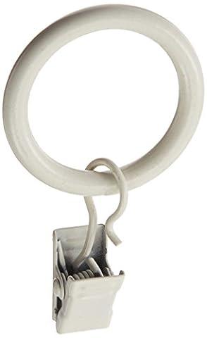 Beme Kid 's 7er Pack Draperie Clip, 1–1/4-Zoll, weiß, 5/8 inch Diameter Rod Sets (1,25 Rod Set)