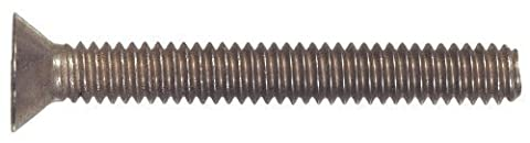 The Hillman Group 45325 M6-1.00 x 50 Metric Flat Head Phillips Machine Screw, Stainless Steel, 5-Pack by The Hillman
