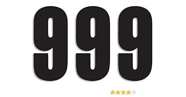MX Startnummern Set Three Series Standard schwarz 13x7cm 3er Set Nummer 3
