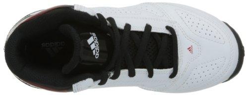 adidas - 3 Series 2013 K, Scarpe sportive - Basketball Bambino Bianco ( Blanc (White/Light Scarlet/Black))