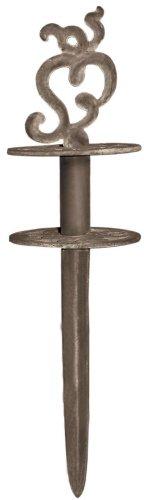 3 Stück Esschert Design Gartenschlauchführung, Schlauchführung mit Erdspieß in rostbraun, ca. 11 cm x 5 cm x 20 cm