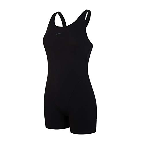 Speedo Damen Badeanzug Essential Endurance Legsuit, Black, 42