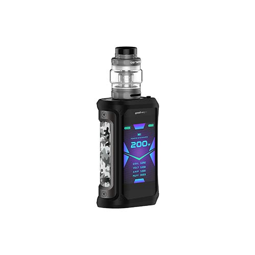 Aegis X Kit, GeekVape Aegis X 200W Kit avec 5.5ml Cerberus Tank and Power avec double 18650 Waterproof Limited Edition Box Mod