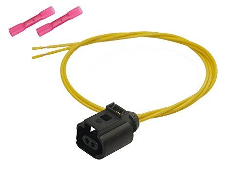 Preisvergleich Produktbild Stecker 2-pol Reparatursatz Buchse konfektioniert Elektrik OEM VW 1J0 973 702 1J0973702