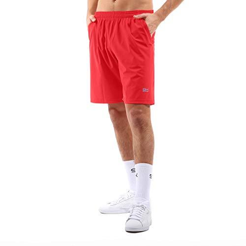 Sportkind Jungen & Herren Tennis, Training, Sport Shorts lang, rot, Gr. 146
